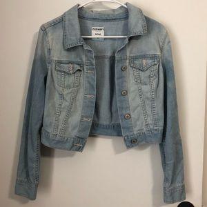 Like New! Cropped Blue Jean Denim Jacket